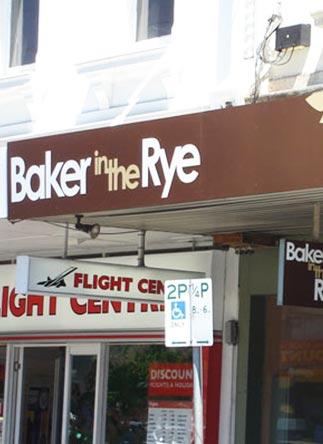 BAKER IN THE RYE