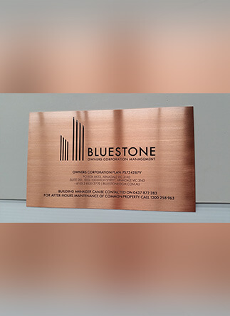 Bluestone Plaque